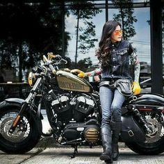 Adventure Girl Looking For A Motorcycling Adventure Click