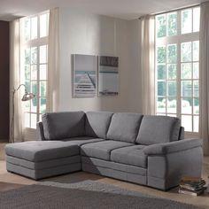 Canapé d'angle droit ou gauche convertible en tissu gris - Ikar - Canapés en tissu-Canapés, Banquettes-Salon, Salle à manger-Par pièce - Décoration intérieur - Alinea