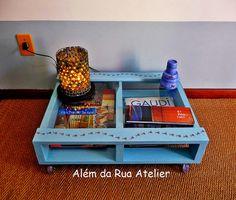 Mesa feita com pallet, via Flickr.