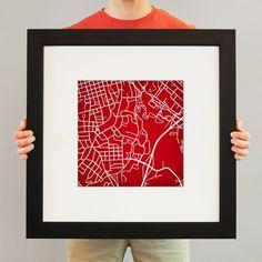 University of Georgia - City Prints Map Art University Of Georgia, College Campus, Map Art, Art School, Modern Art, Best Gifts, Artsy, Prints, Christmas Ideas