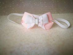 71ff53e225 Subtelna opaska dla Małej Królewny róż biały - MadebyKaza - Opaski dla  niemowląt