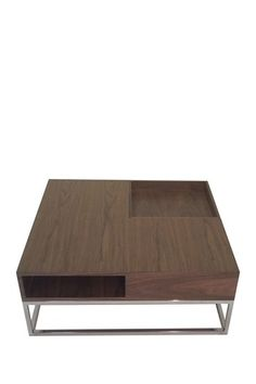Audrina Coffee Table - Walnut by PANGEA/home