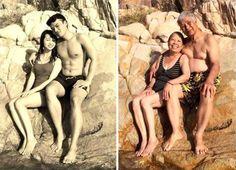 Ecco come eravamo. E come siamo: 50 coppie che si sono fotografate oggi nelle pose delle loro vecchie foto.