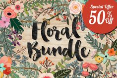 Floral Bundle by Mia Charro on Creative Market