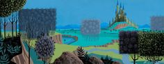 """Prelude To Slumber"" - concept art by Eyvind Earle"