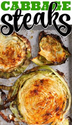 Cabbage Steaks {EASY RECIPE} - Cabbage Steaks roasted until the edges are perfectly crispy are savory and delicious, super easy to make, and taste amazing! # Easy Recipes for 1 Roasted Cabbage Steaks Grilling Recipes, Vegetable Recipes, Vegetarian Recipes, Cooking Recipes, Healthy Recipes, Grilling Ideas, Easy Recipes, Keto Recipes, Grilled Cabbage Steaks