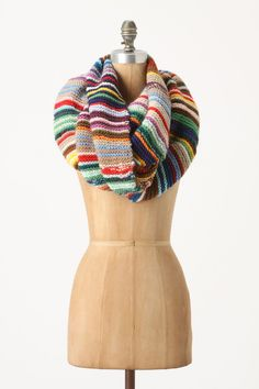 One-Of-A-Kind Striped Scarf - now I know what to do with my scraps!