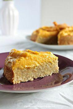 Leckerer zuckerfreier, veganer und glutenfreier Mango Kuchen