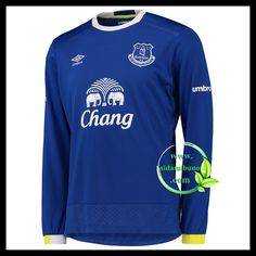 Everton Home Shirt 201617 Long Sleeved Sports Online Shopping Sport Online, Everton Fc, Football Kits, Premier League, Sweatshirts, Long Sleeve, Sports, Mens Tops, Cher