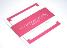 Simple Heart Modern Wedding Invitation Suite Wedding Invite Christina Design - SAMPLE. $6.00, via Etsy.