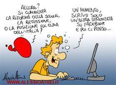 Cose da Facebook:  Una breve considerazione su alcuni momenti di superficialità...  Vignetta di Alessio Atrei
