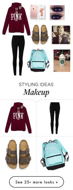 """Lazy day outfit"" by dancelover102803 on Polyvore featuring Max Studio and Birkenstock"
