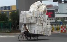 Top 10 Worst Overloaded Cars and Bikes - Road Traffic Fail Videos Fail Video, Mount Rushmore, Bike, Cars, Videos, People, Top, Transportation, Bicycle