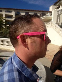 Our pink glossy sunglasses in action this weekend in CA.