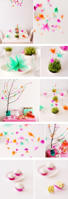 Bellas flores para adornar la mesa / Beautiful flowers to decorate the table