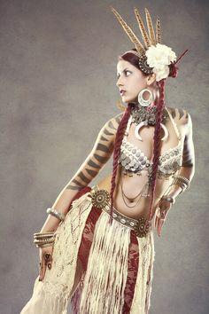 White tribal costume - tribe.net