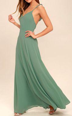 Meteoric Rise Sage Green Maxi Dress via @bestmaxidress
