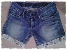 Nouveau short (jean raccourci) avec motif liberty. Plus qu'à attendre le soleil!