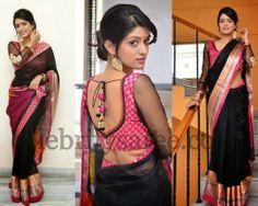 Nidhi Nautial Black Saree   Saree Blouse Patterns