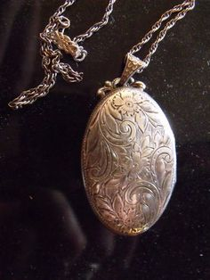 Antique Sterling Silver Locket #SterlingSilver