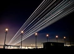 Long Exposure Shots of Airline Takeoffs and Landings   Amusing Planet