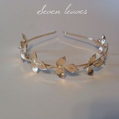 Gold Metal Leaf Head Jewelry Headband (Reduced) $9 This is so pretty and it has 7 leaves. Comes in package. Accessories Hair Accessories