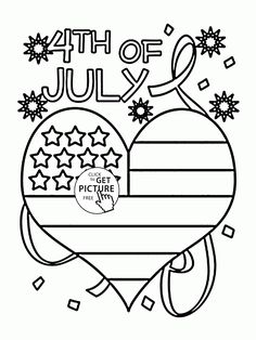 Happy 4th of July Star Coloring Page | Drawing & Coloring Worksheets ...