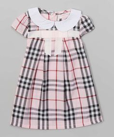 Look what I found on #zulily! Pink Plaid Pleated Dress - Infant, Toddler & Girls #zulilyfinds