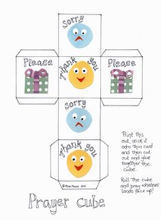 Flame: Creative Childrens Ministry: Prayer Cube for 3-5s (or any age!)