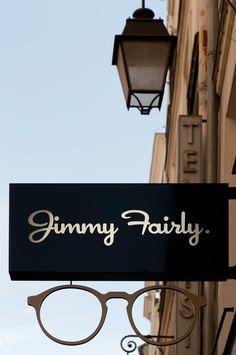 Boutique d'optique JIMMY FAIRLY Exterior Signage, Exterior Design, Optometry Office, Eyewear Shop, Internal Design, Optical Shop, Hospital Design, Window Signs, Jimmy