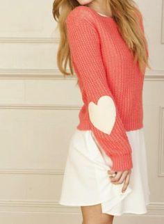 Pink Heart Sweater #heart #love #fallfashion #cute #girl