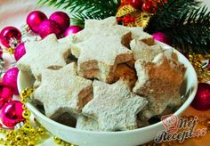 Nutellové hvězdičky   NejRecept.cz Gingerbread Cookies, Cheesecake, Food And Drink, Pudding, Sweet, Chocolate Candies, Oat Cookies, Top Recipes, Creative Food