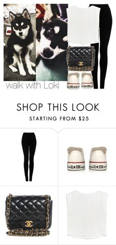 """walk with Loki"" by eden-nialler-girl ❤ liked on Polyvore featuring Payne, Topshop, Converse, Chanel, MANGO, OneDirection, LiamPayne, 1d, liam and Loki"