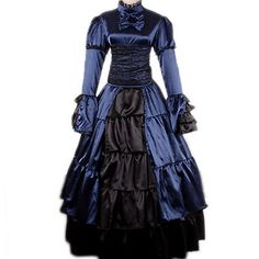 Victorian Period Gothic Prom Party Lolita Dress Belle Gown Reenactment Theater