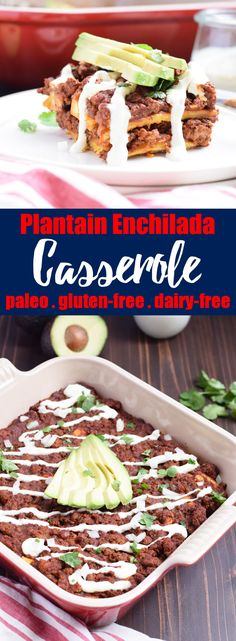 Plantain Enchilada Casserole from Living Loving Paleo! | paleo, gluten-free, dairy-free and Whole30 compliant | An exclusive Invincible Inspiration members recipe