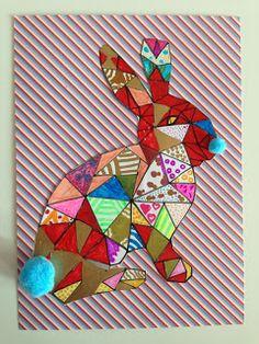 * * *La boite à idées de l' atelier 3B* * *: Lapinou en graphisme Spring Crafts For Kids, Holiday Crafts For Kids, Art For Kids, Easter Art, Easter Crafts, Classe D'art, 3rd Grade Art, School Art Projects, Art Classroom