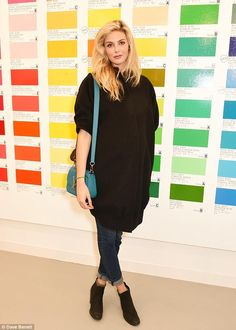 Pregnant Tamsin Egerton dresses her baby bump in a coat dress and jeans Tamsin Egerton, London Art Fair, Maternity Fashion, Maternity Style, Lovely Legs, Baby Bumps, Hollywood Celebrities, Jeans Dress, Coat Dress
