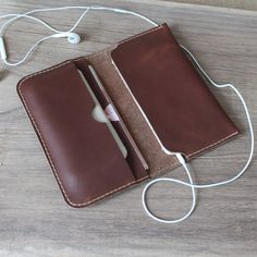 leather wallets Handmade coffee leather iphone wallet case,iphone 6 iphone 6…