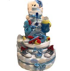 Τούρτα από πάνες με μωρουδιακά για τον πρώτο χρόνο του μωρού Nappy Cake, Children, Boys, Young Children, Baby Boys, Kids, Diaper Bouquet, Senior Boys, Sons
