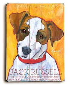 'Jack Russell' Wood Wall Art