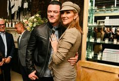 Luke Evans with Celine Dion
