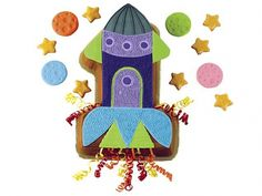 All Systems Go! Cute Rocket Ship Cake for Jonathan's party :)