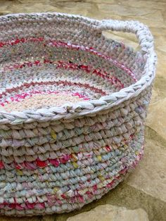 Rag basket - would make an awesome laundry basket - by osnat.ganor, via Flickr
