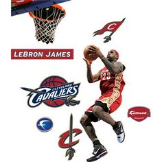 This full-color figure of Lebron James makes a great addition to any fan's room. Fathead Junior wall graphics are action images that will stick to any smooth surface, and are safe for walls. The junior size is space-friendly, and fits all kinds of places including doors, fridges, windows, tables and more. Durable vinyl material makes this wall graphic tough and long-lasting. Product Features: Officially licensed full-color wall graphic is constructed of durable fade-resistant vinyl ...