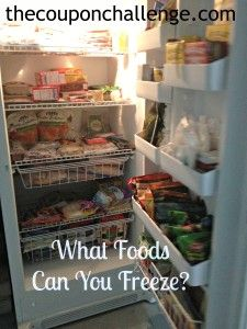Did you know you can freeze eggs?  See what foods you can freeze.  It's not just chicken strips and vegetables!