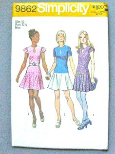 UNCUT 70s Simplicity 9862 Sewing Pattern by Fancywork on Etsy