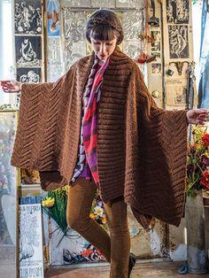 Berroco Ultra Alpaca Chunky Robes-Poems Wrap Knitting Pattern 349 PDF