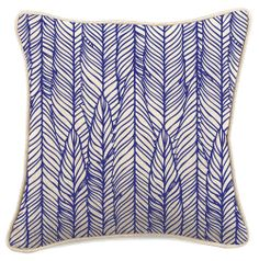 Navy Feathers Cushion Cover - Young Feather - Temple & Webster presents