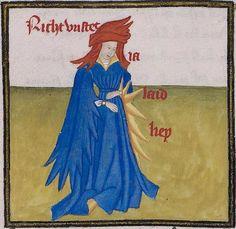 Thomasin <Circlaere> Welscher Gast (H) Burgund (?), Anfang des 15. Jhs. Ms. Hamilton 675 Folio 22v