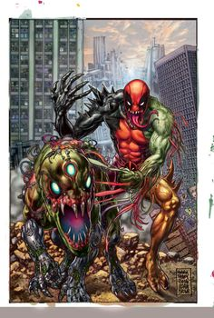 Deadpool vs. Carnage cover by Glenn Fabry.